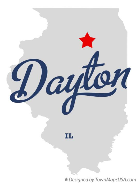 Map of Dayton Illinois IL