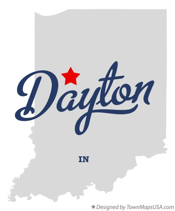 Map of Dayton Indiana IN