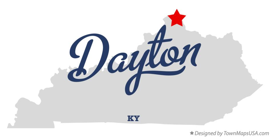 Map of Dayton Kentucky KY