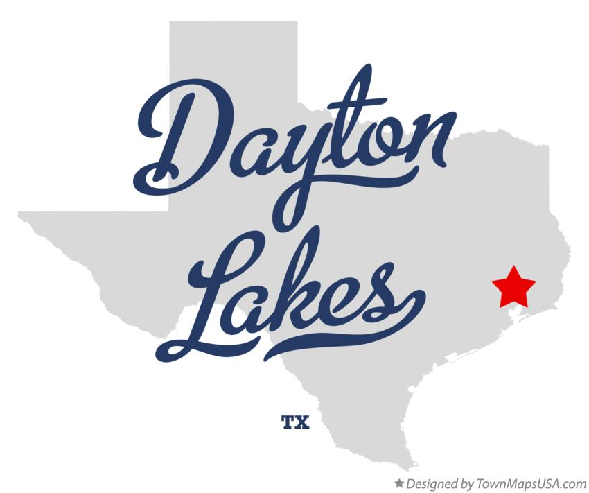 Map of Dayton Lakes Texas TX