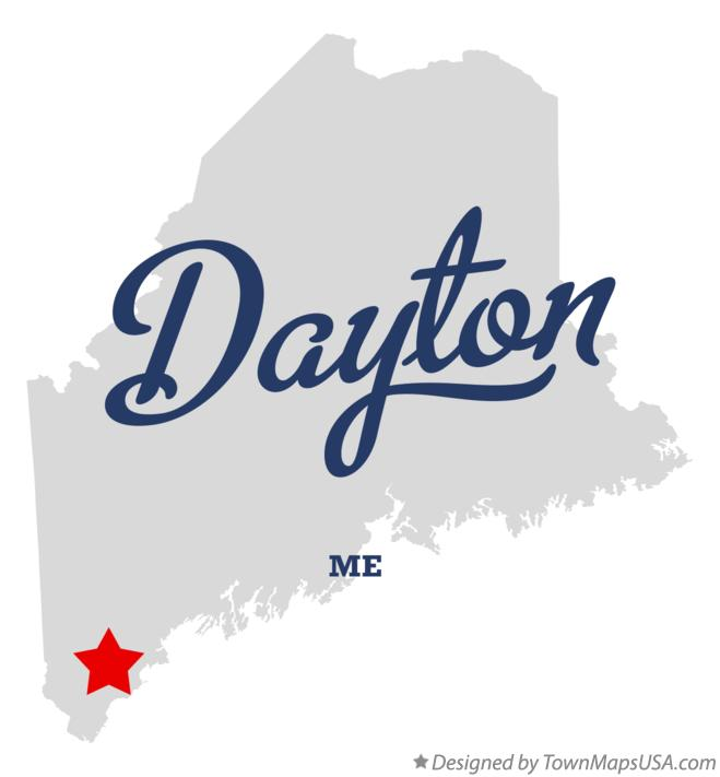 Map of Dayton, ME, Maine