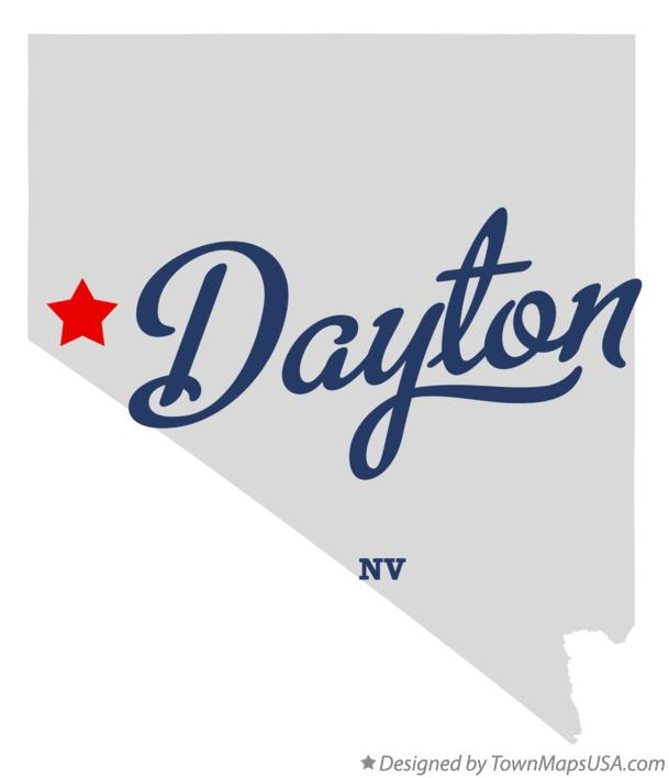 Map of Dayton Nevada NV