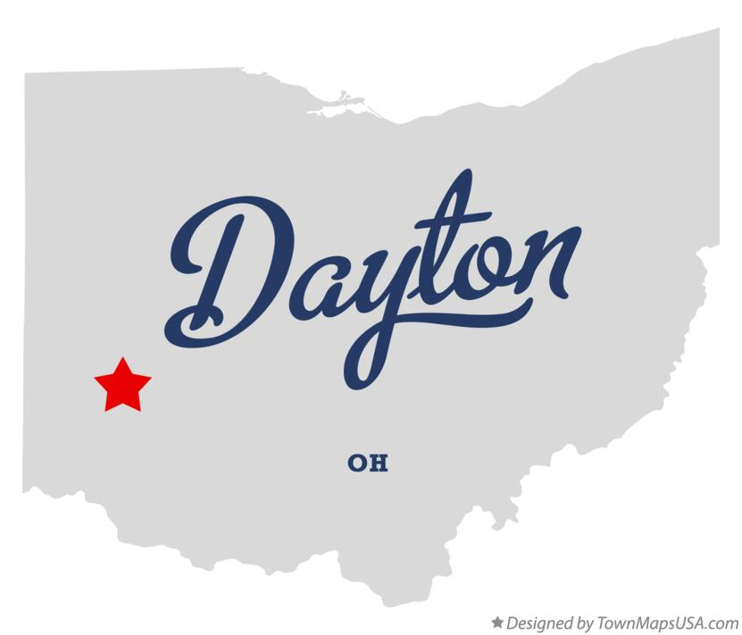 Map of Dayton Ohio OH