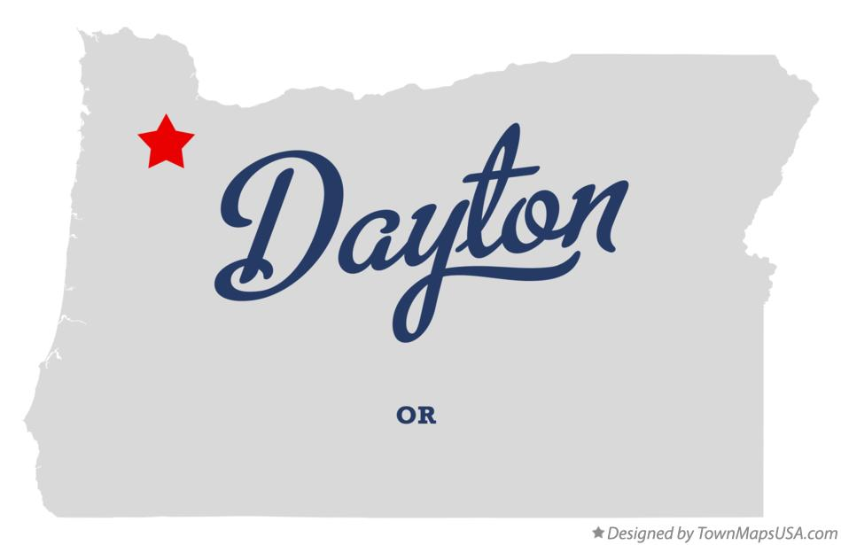 Dayton Oregon Map Map of Dayton, OR, Oregon