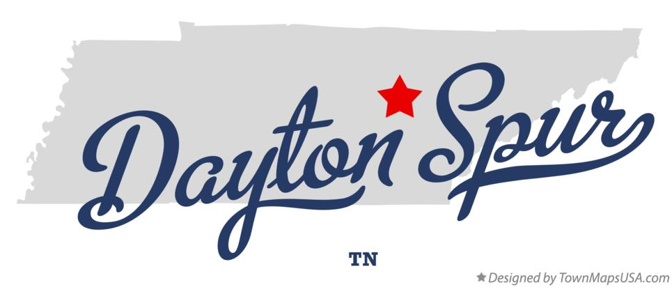 Map of Dayton Spur Tennessee TN
