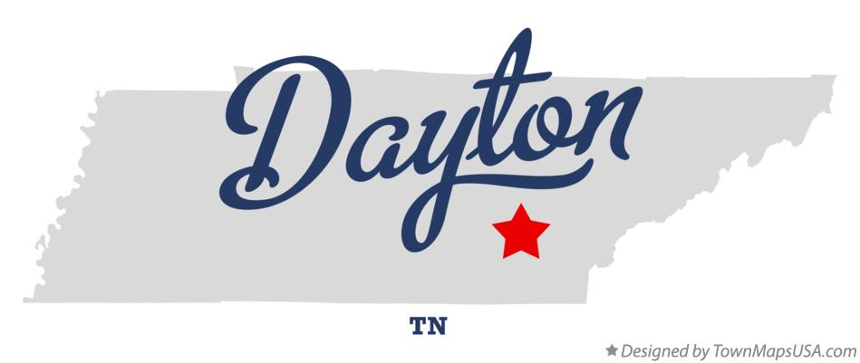 Map of Dayton Tennessee TN