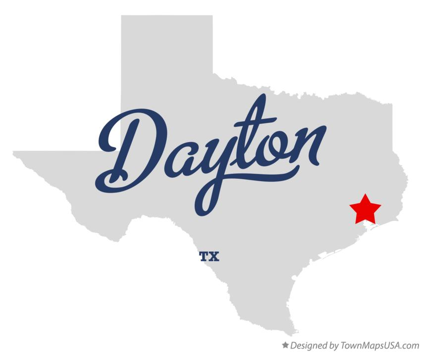 Map of Dayton Texas TX