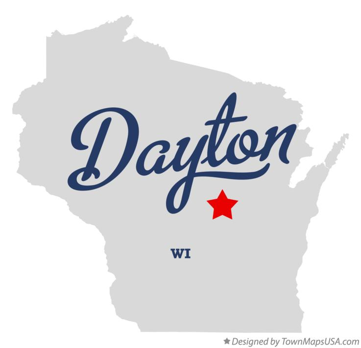 Map of Dayton Wisconsin WI