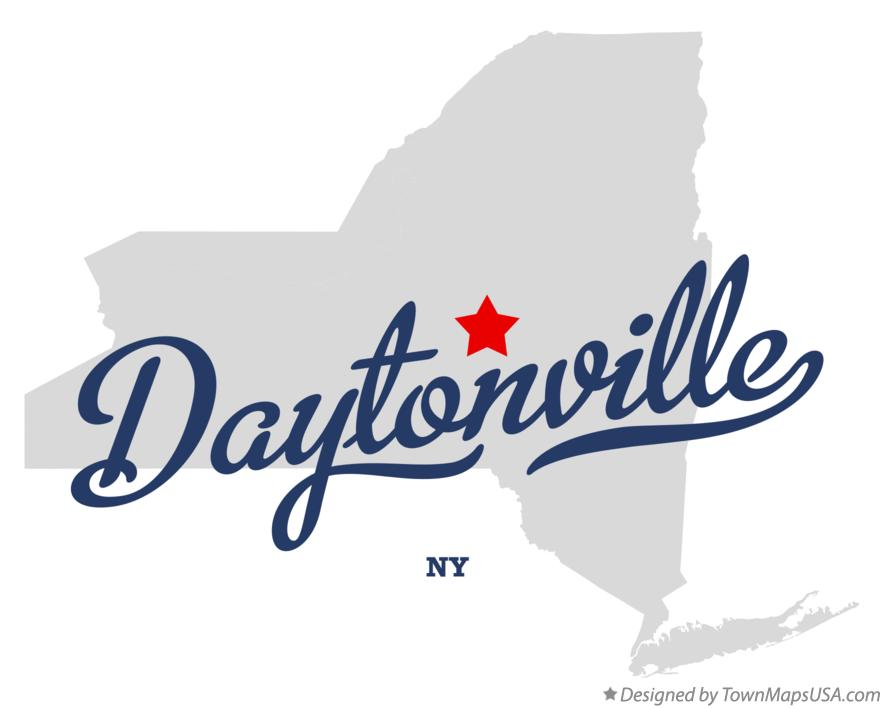 Map of Daytonville New York NY