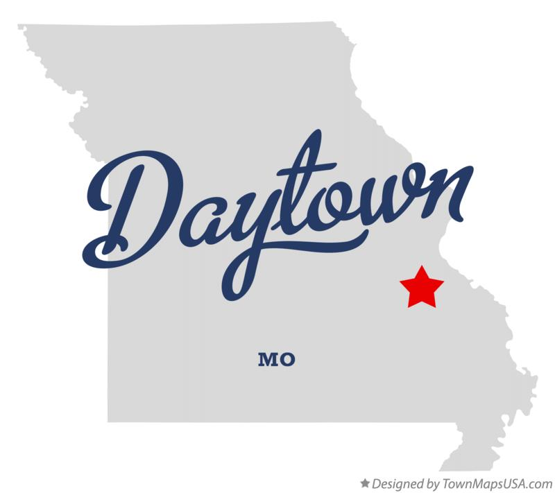 Map of Daytown Missouri MO