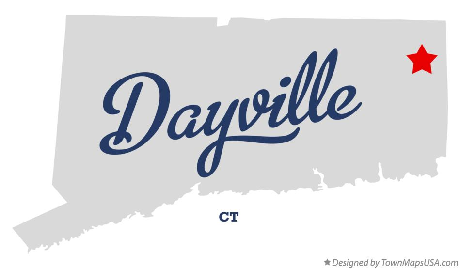 Map of Dayville Connecticut CT