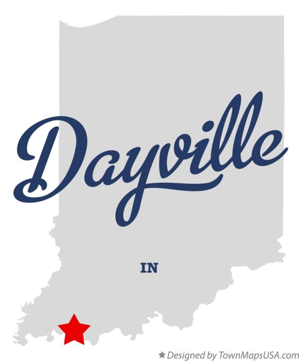 Map of Dayville Indiana IN