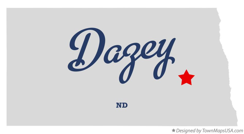 Map of Dazey North Dakota ND