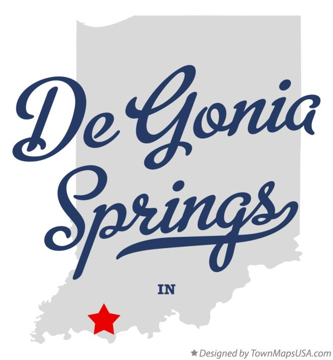 Map of De Gonia Springs Indiana IN