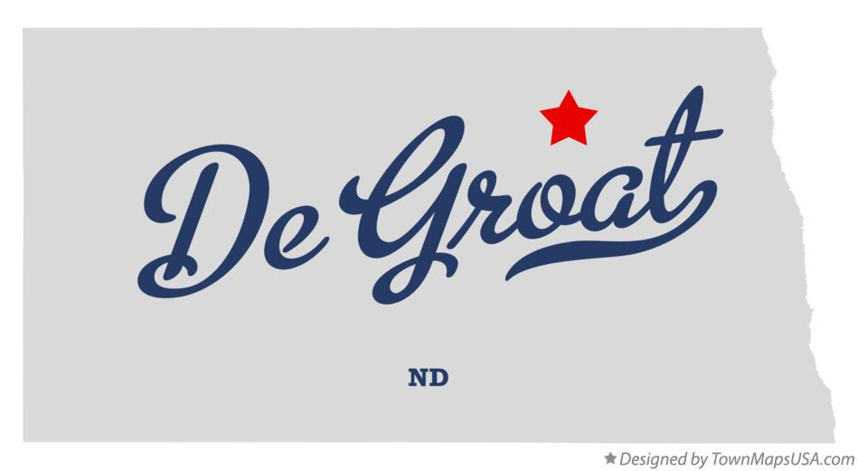 Map of De Groat North Dakota ND