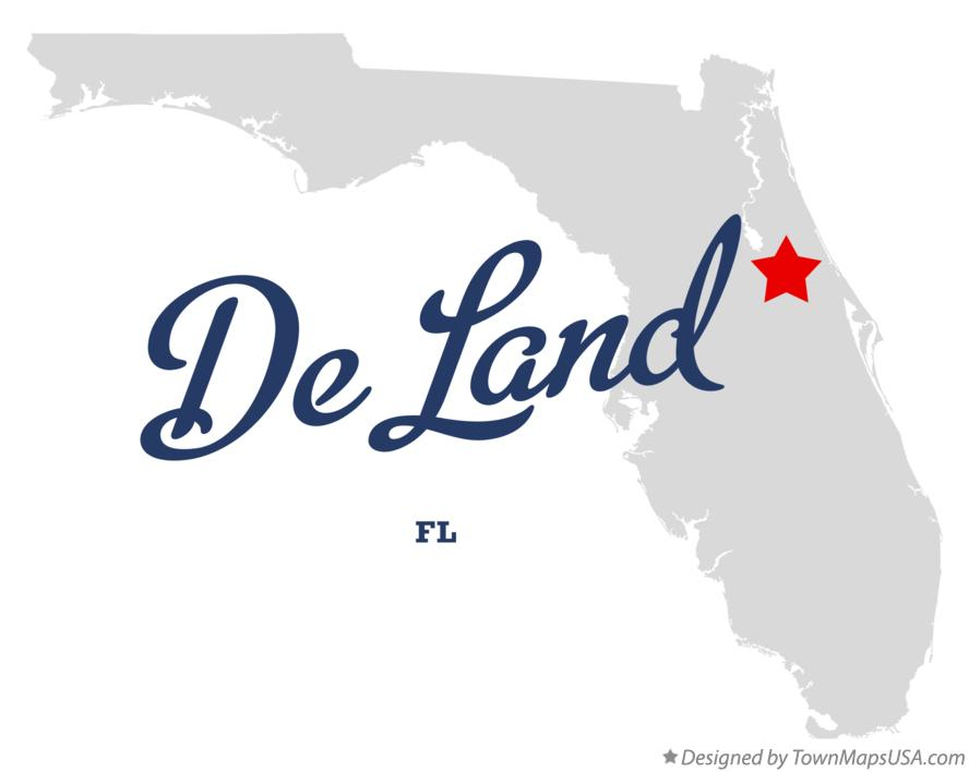 Map of De Land Florida FL