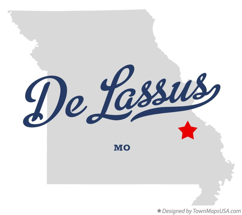Map of De Lassus Missouri MO