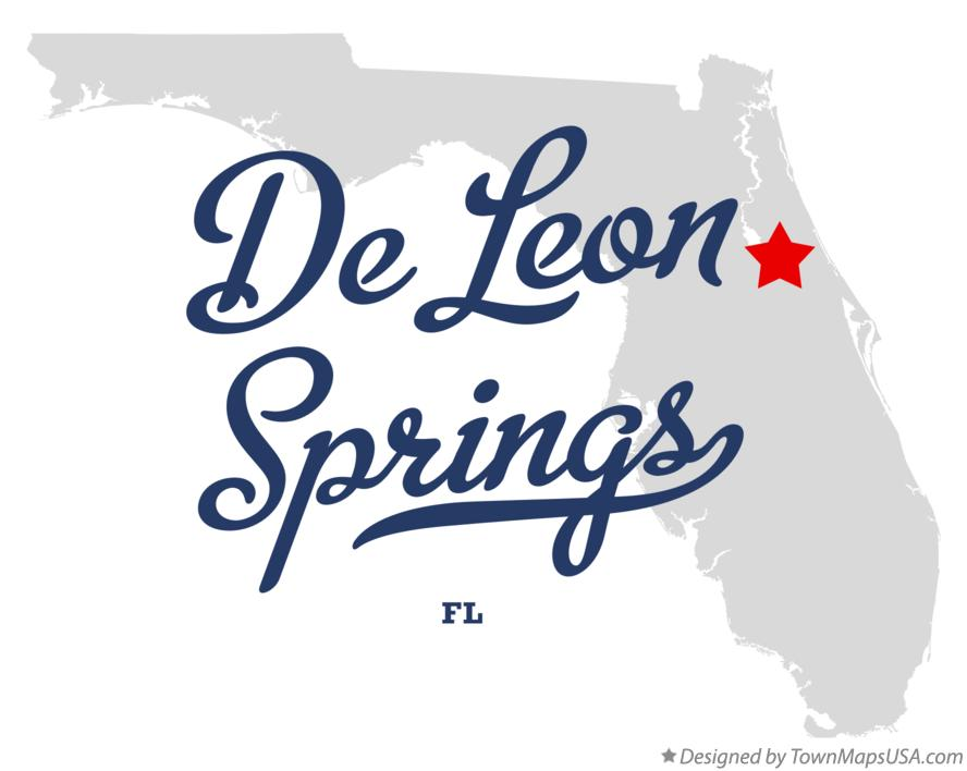 Map of De Leon Springs Florida FL