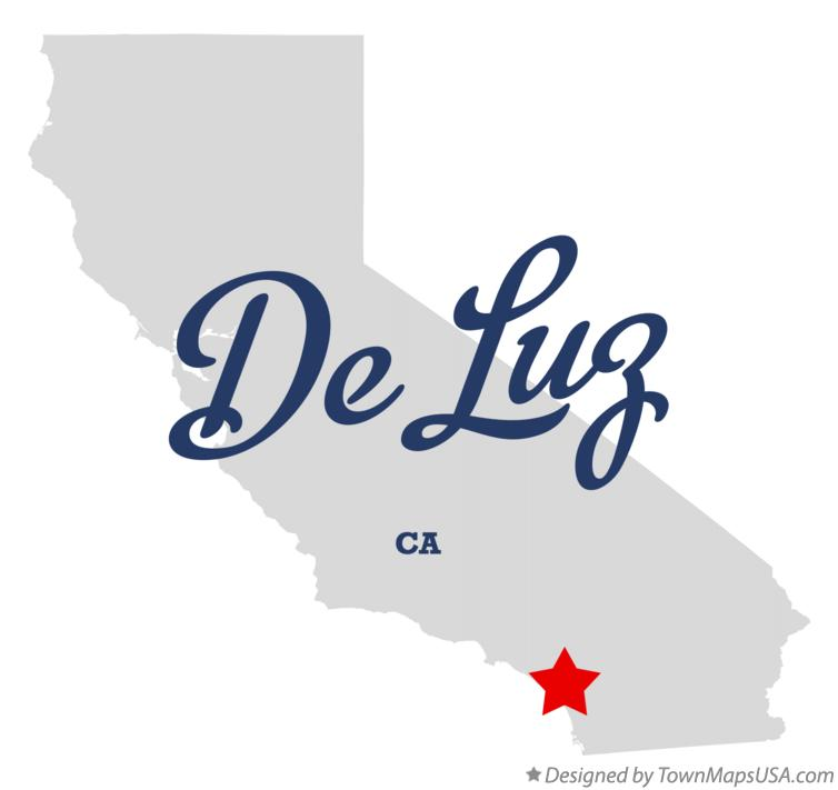 Map of De Luz California CA