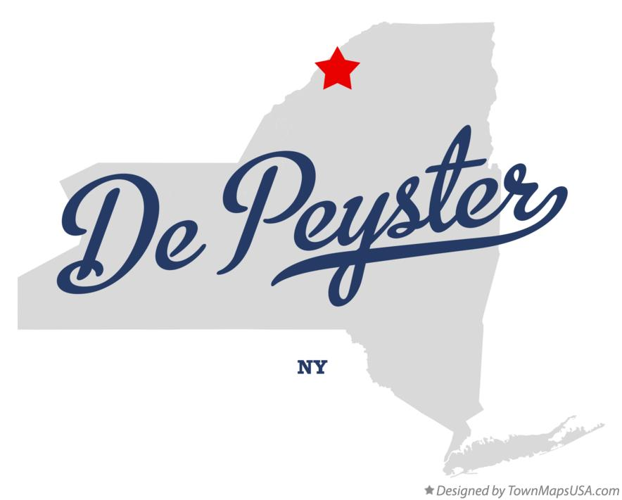 Map of De Peyster New York NY