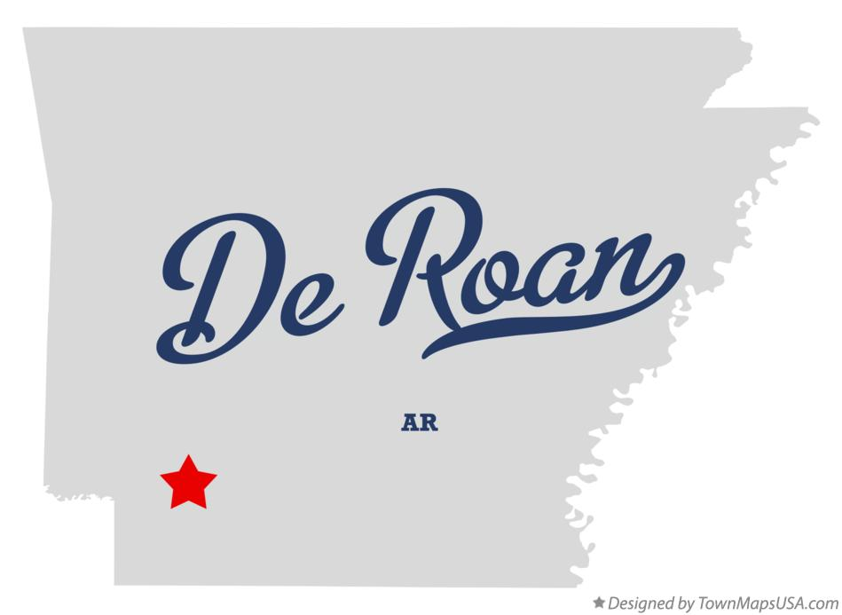 Map of De Roan Arkansas AR