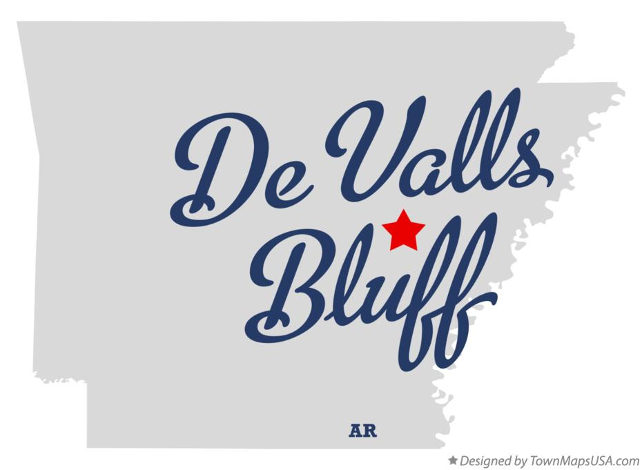 Map of De Valls Bluff Arkansas AR