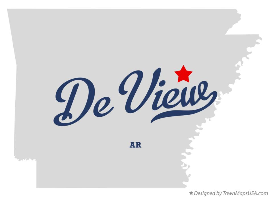 Map of De View Arkansas AR