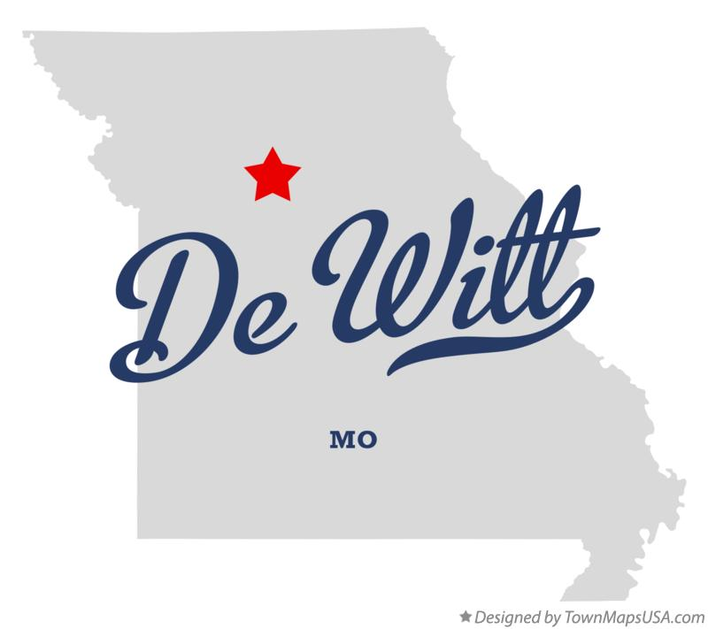 Map of De Witt Missouri MO