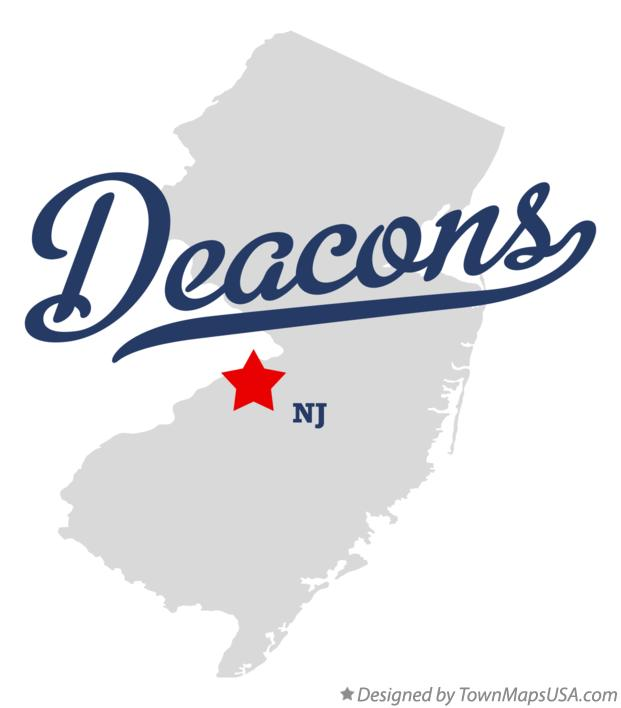 Map of Deacons New Jersey NJ