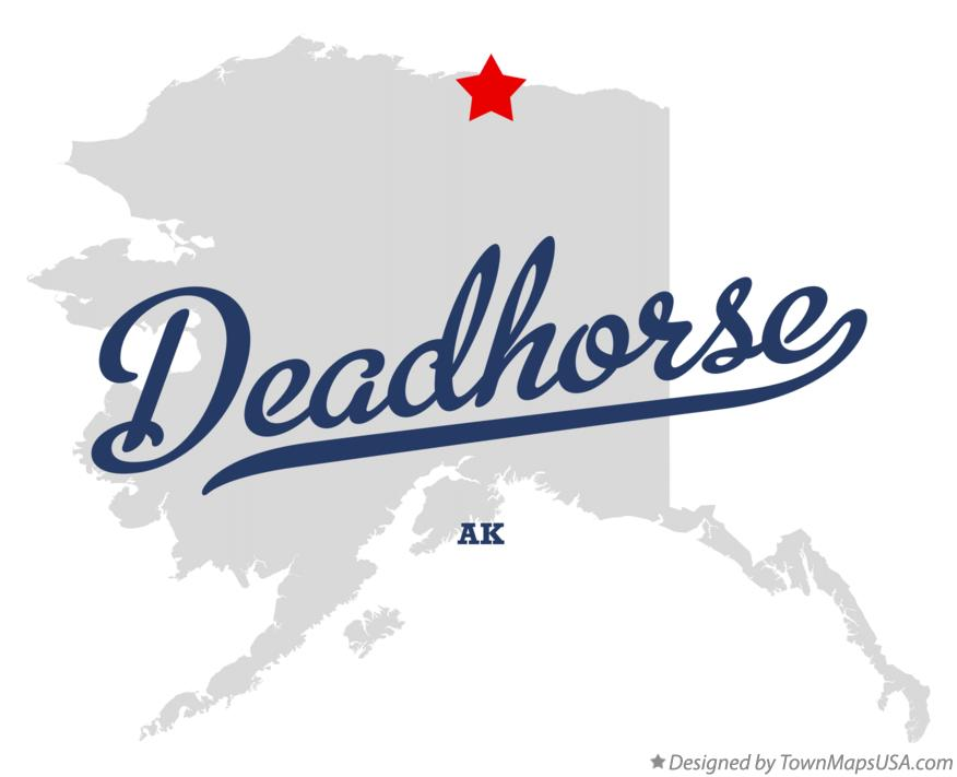 Map of Deadhorse Alaska AK