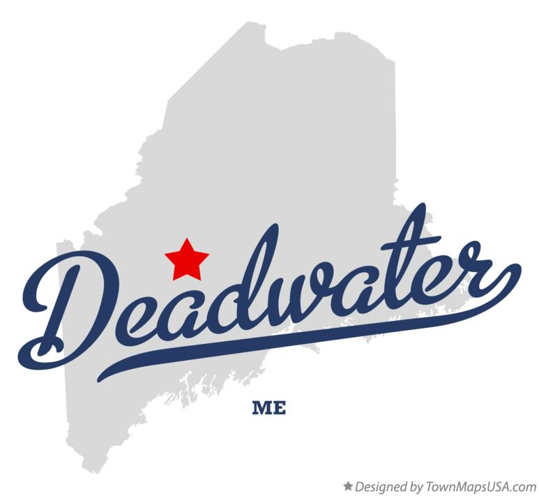 Map of Deadwater Maine ME