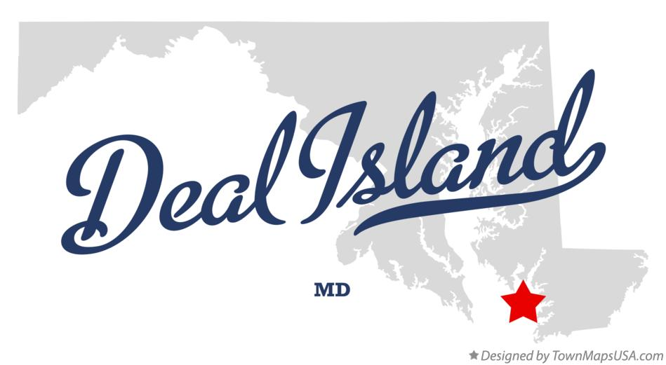 Map of Deal Island Maryland MD