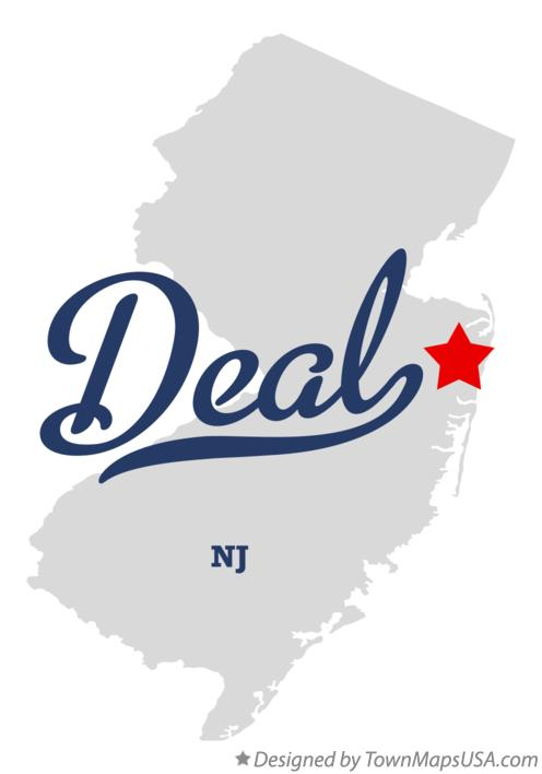 Map of Deal New Jersey NJ