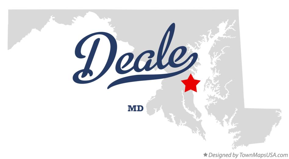 Map of Deale Maryland MD