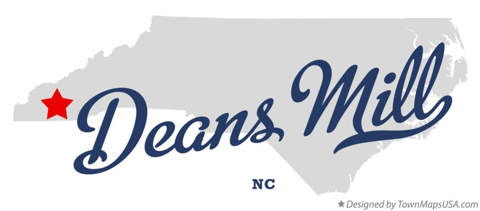 Map of Deans Mill North Carolina NC