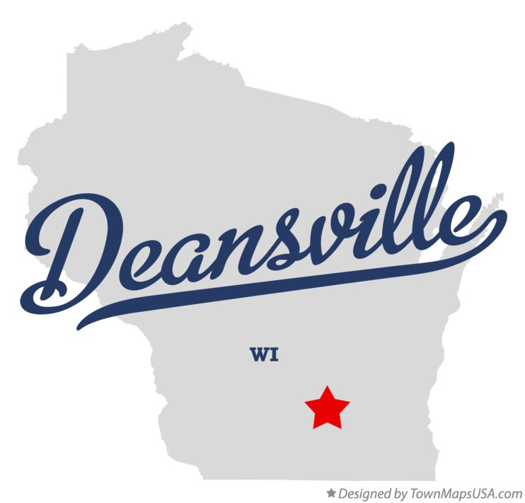 Map of Deansville Wisconsin WI