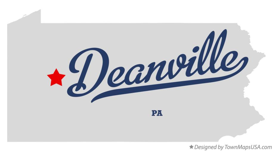 Map of Deanville Pennsylvania PA