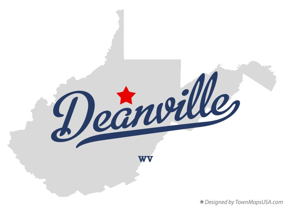 Map of Deanville West Virginia WV