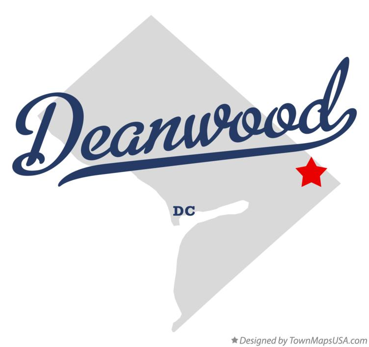 Map of Deanwood District Of Columbia DC