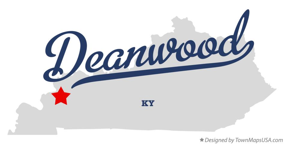 Map of Deanwood Kentucky KY