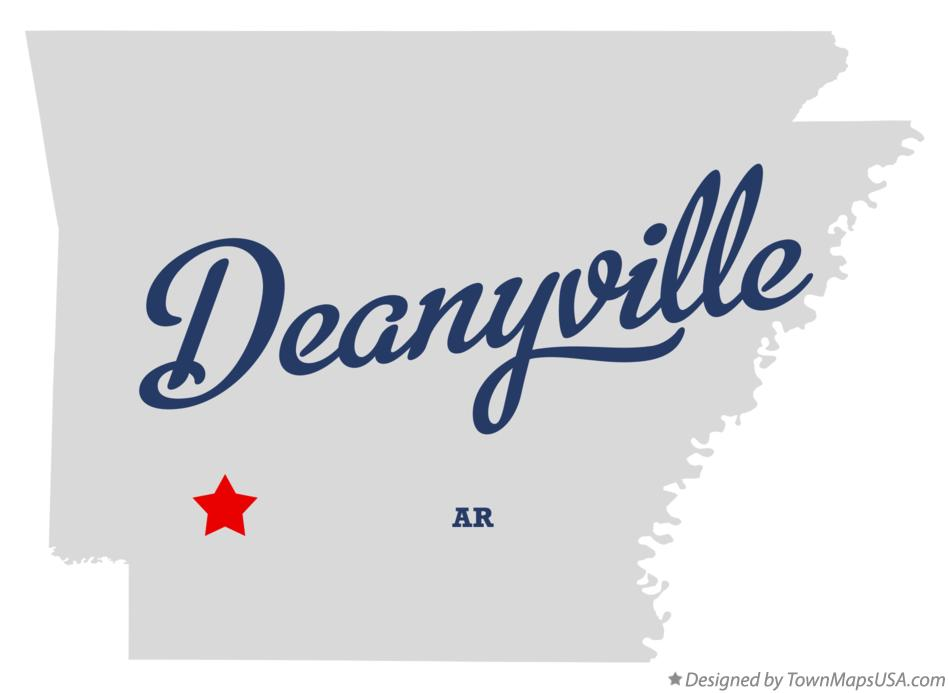 Map of Deanyville Arkansas AR