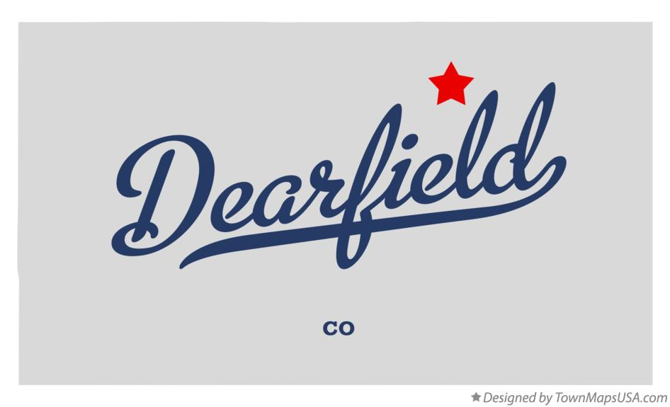 Map of Dearfield Colorado CO
