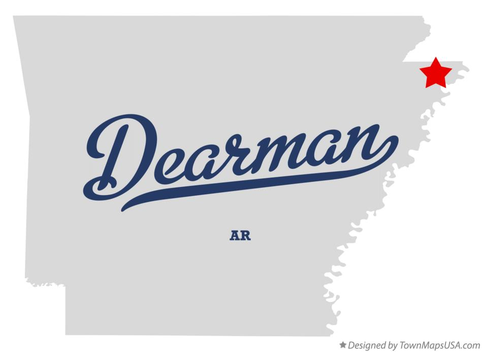 Map of Dearman Arkansas AR