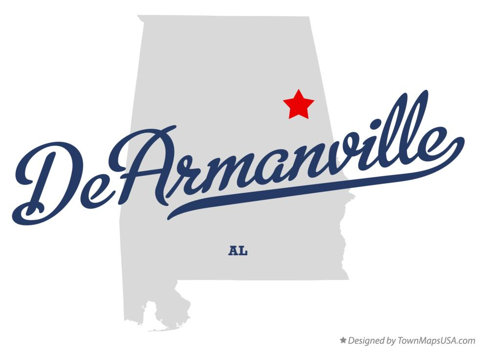 Map of DeArmanville Alabama AL