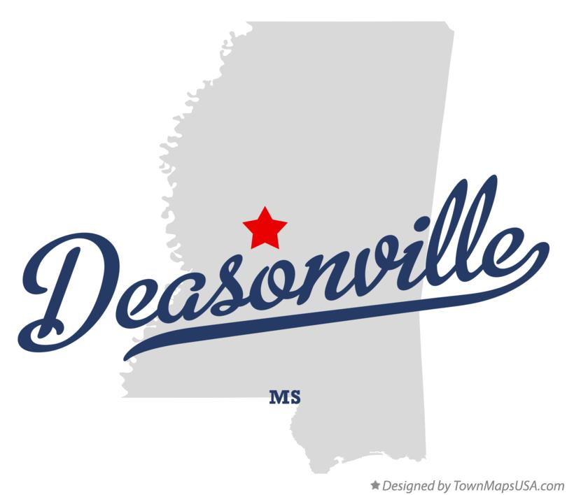 Map of Deasonville Mississippi MS