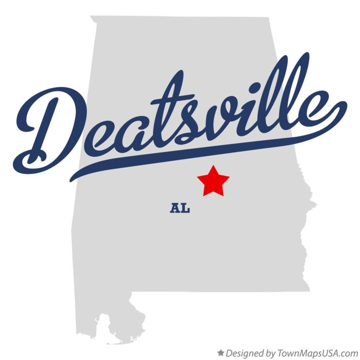 Map of Deatsville Alabama AL