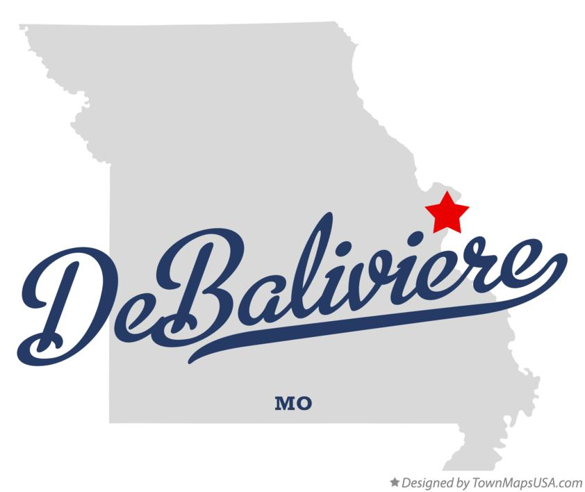 Map of DeBaliviere Missouri MO