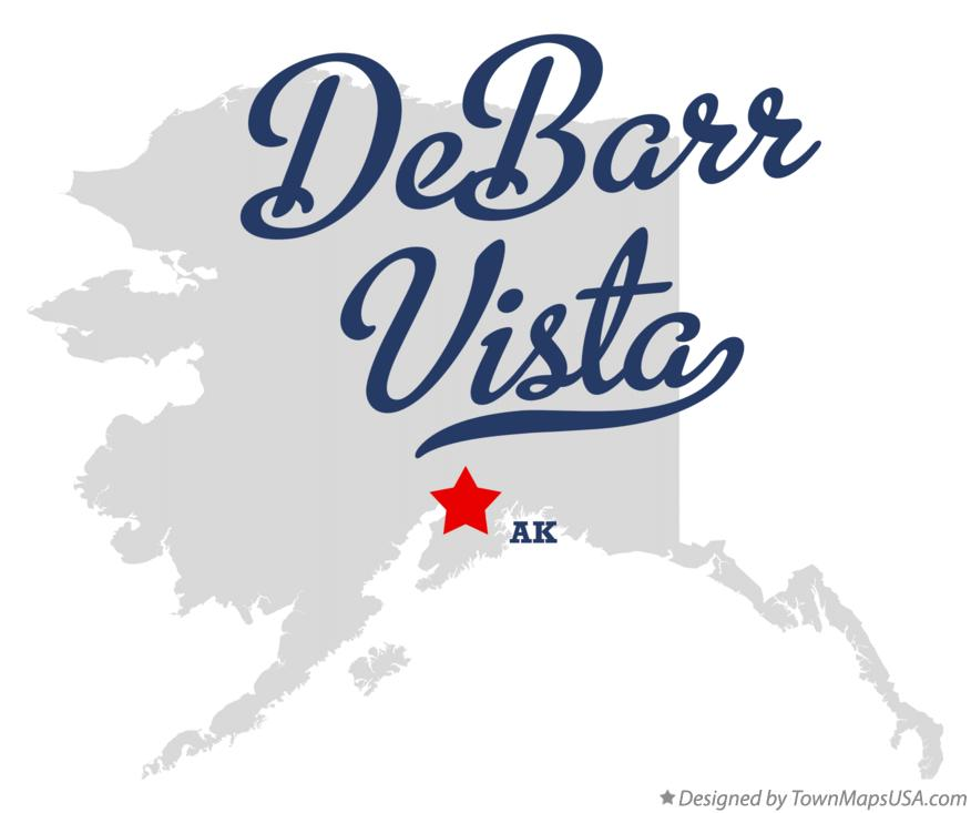 Map of DeBarr Vista Alaska AK