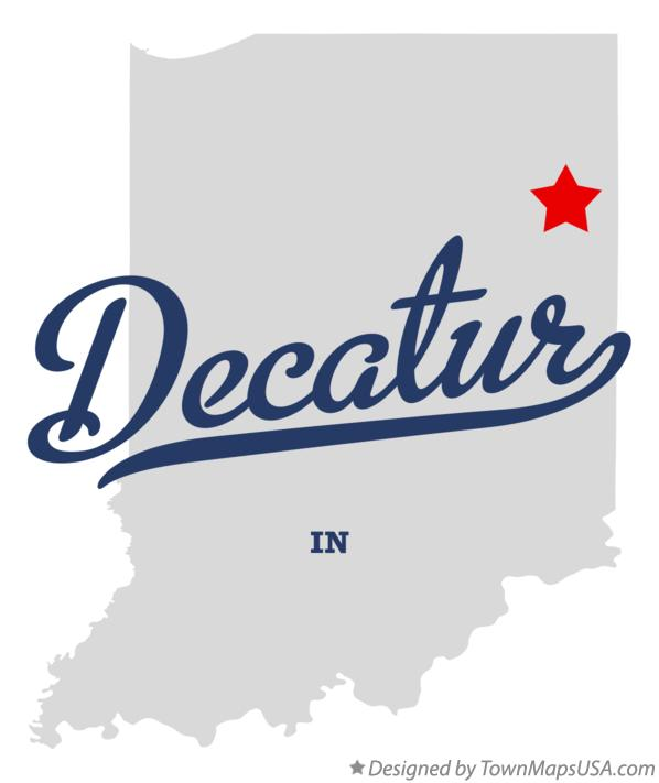 Map of Decatur Indiana IN