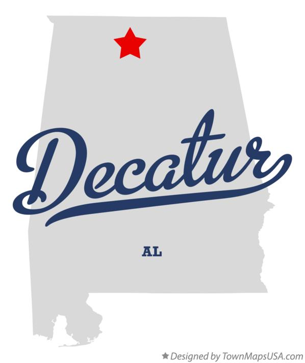 Map of Decatur, AL, Alabama